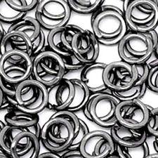 20 anelli piegatura 4mm Gunmetal Nero Open jump Anello PIEGATURA ANELLO realizzerà gioielli