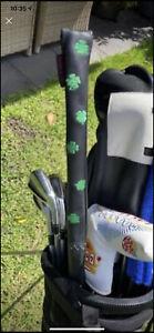 Rose & Fire Clover Leather Alignment Stick Cover + 2 Fibreglass Alignment Sticks
