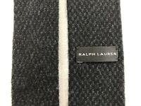 """Ralph Lauren Black Label Mens 100% Cashmere Knit Tie Necktie Italy Made Black 2"""""""