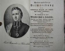 Baur – Alexander von Hohenlohe – Heft 2 – Würzburg 1821 – Mit Porträt