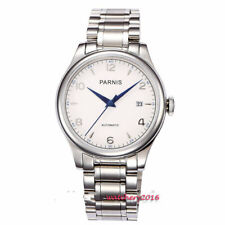 5cf105311 Parnis 38mm White Dial sapphire glass date adjust automatic Movement Men's  Watch