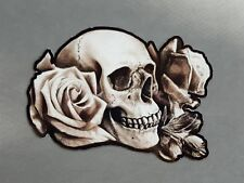 "6"" x 4"" Roses N' Skull Vinyl Decal Stickers"