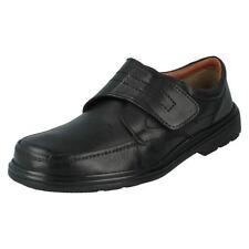 Scarpe da uomo nere in sintetico con velcro