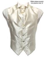 Gilet uomo sartoriale elegante cerimonia avorio lucid papillon cravatta plastron