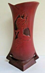 Roseville Silhouette 787-10 Nude Vase Red #1