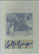 Hulk Hogan 2012 Leaf Legends of Sport Autograph Yellow Printing Plate Card WWE