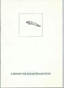 Jaguar 1990 Report for Jaguar Dealer Staff Questions Answers Tour of Facilities