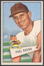 1952 BOWMAN LARGE FOOTBALL #14 PAUL BROWN HALL OF FAME ROOKIE CARD WICHITA FIND