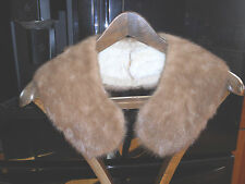 Vintage Fur Collar Wrap Shawl  Champagne color warmth steampunk fashion mink?
