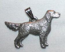 English Setter Dog Harris Fine Pewter Pendant Usa Made