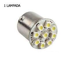 SINGOLA LAMPADA STOP POSIZIONE RETRO DIURNE P21W/5W BA15D 9 LED SMD BIANCO