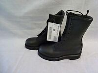 Military Black Leather Boots Addison Sz 3 Regular Steel Toe Safety DSCP New #108