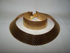 Vtg Monet Cleopatra Egyptian Demi Parure Collar Necklace and Bracelet set EUC
