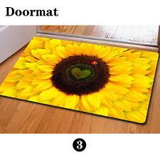 Yellow Trendy Sunflower Floor Carpet Area Rug Non-slip Doormat Room Entrance Mat