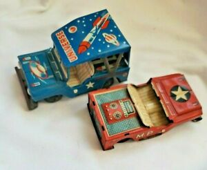 VINTAGE UNIVERSE SPACE ROCKET JEEP FRICTION TOY, MP Jeep Japan