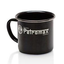 Taza que acampa del esmalte negro de Petromax
