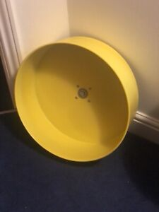 Tic Tac Exercise Wheel 16.5 inch.5 Inches Wide.Yellow For Rodents ..Cage Mounted