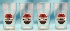 Killians Irish Red Beer 6in Nonic Pint Glass Set Of 4