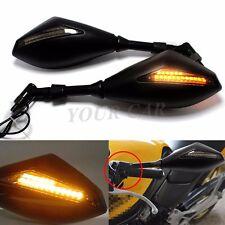 Motorcycle  LED Turn Signal Mirrors For Suzuki SFV650 TU250 Gladius B-King SV650