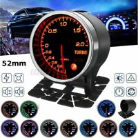 2'' 52mm Led Pressione Turbo Manometro Bar 10 Colores Change Universal Auto