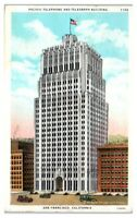 1931 Pacific Telephone and Telegraph Building, San Francisco, CA Postcard