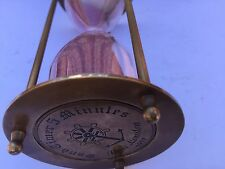 SOLID BRASS/ GLASS TIMER FIVE MINUTES ( AMAT 7124)