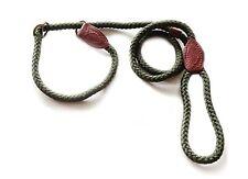 "Gundog Green Rope Slip (choke) Dog Lead. Overall length 59"" / 150 cm by 12 mm"