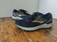 BROOKS Adrenaline GTS 19 Mens Size 12 Running Shoes Navy Blue Gold 1102941D439