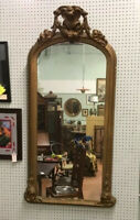 "5 FT TALL PERIOD ANTIQUE FRENCH PIER MIRROR~30"" WIDE~EXCELLENT CONDITION FOR AGE"