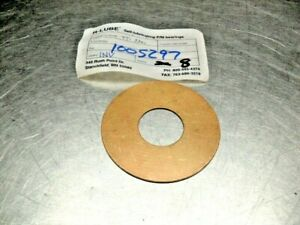 "R-LUBE TT-3301 Bronze Thrust Washer 3-1/4"" od, x 1-1/4"" bore, x 1/16"" thick"