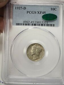 1927D Mercury Dime XF45 PCGS and CAC # 5351