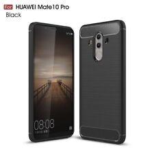 CoverKingz Huawei Mate 10 Pro Hülle Hybrid Brushed Carbon Soft-Case slim SCHWARZ