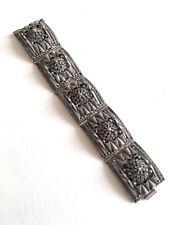 Bracelet ethnique ancien argent berbère, kabyle ? Tribal bangle silver filigrane