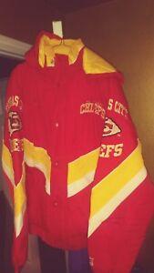Vintage Kansas City Chiefs Throwback Ski  Starter Jacket XL New! NFL