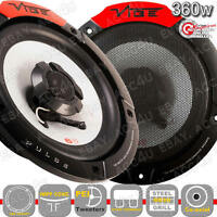 "Vibe Audio Pulse Series 6 6.5"" inch 360w Car Van Door Shelf Coaxial Speakers Set"