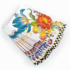 New MacKenzie Childs Flower Market Guest White Paper Napkins /15 per pack/