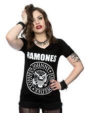 Ramones Women's Presidential Seal Roll Sleeve T-Shirt