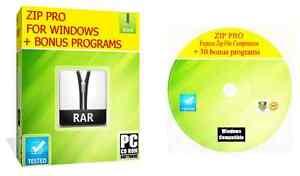 Pro Winzip Archive Compression Software For Zipped RAR Files Windows PC CD ROM