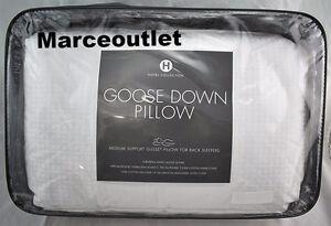 Hotel Collection European White Goose Down KING Pillows Medium Support