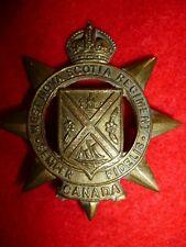 The West Nova Scotia Regiment King's Crown Cap Badge, WW2 Canada