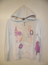 "ROXY Girl's Zip-Up Hoodie ""Marshmell"" WHT - Medium - NWT"