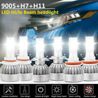 9005+H7+H11 LED Headlight Kit Hi/lo BeamBulbs for Mazda3 2004-06 Mazda 6 2011-13