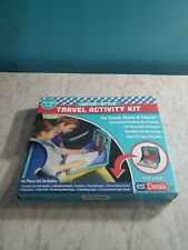 EZDesk Travel Activity Kit, Laptop Style Desk w/ Writing & Craft Accessories