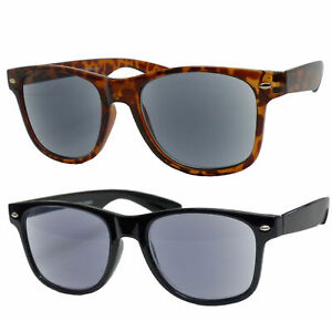 Lesehilfe Lesebrille Sonnenbrille in Wayfarer Form Nerdbrille Hornbrille NEW17