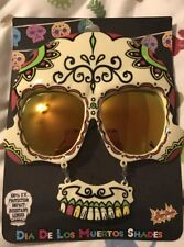 Dia De Los Muertos Shades Sun Stache Sunglasses New
