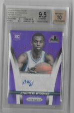 2014-15 Andrew Wiggins Prizm PURPLE AUTO RC #D 71/99 BGS 9.5 GEM MINT