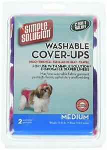 Bramton Simple Solution Washable Cover-Ups, Medium, 2 Pack, Pink and Purple