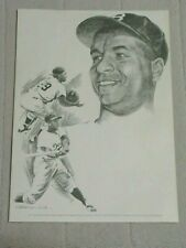 ROY CAMPANELLA 1960's print - George Loh Drawing Equitable Life Collection