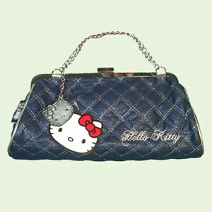 New Hello Kitty Blue Handbag Clutch Baguette Bag Y2k