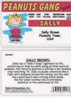 Sally Brown - Charles Charlie Schulz the PEANUTS  Drivers License FAKE ID card